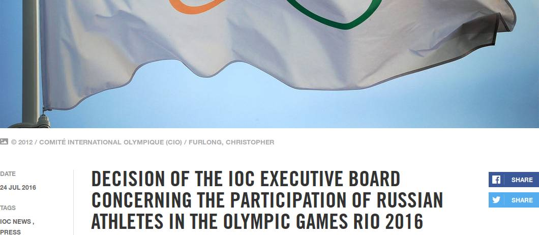 Screenshot olympic.org